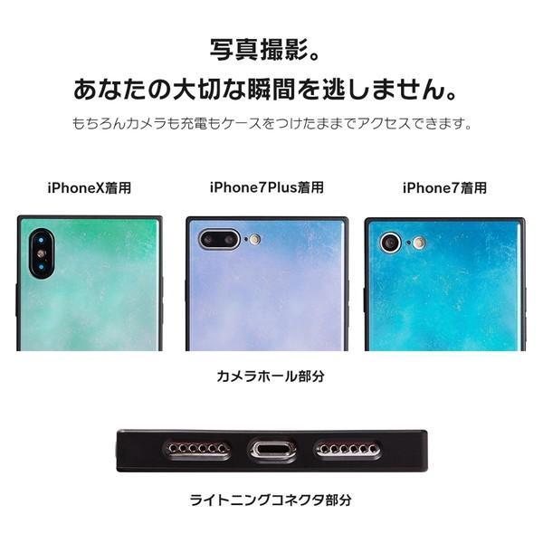 iPhone8 ケース SE2 XR ケース スマホケース XS MAX X iPhone7 iPhoneケース かわいい ガラス dm「スクエアタイル」|designmobile|07
