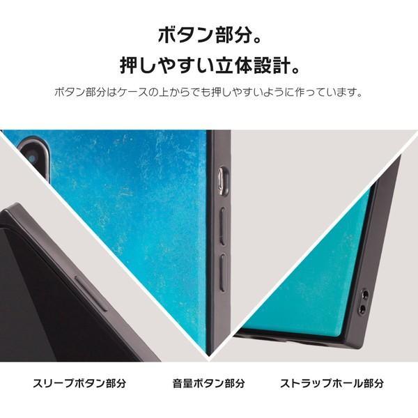 iPhone8 ケース SE2 XR ケース スマホケース XS MAX X iPhone7 iPhoneケース かわいい ガラス dm「スクエアタイル」|designmobile|08
