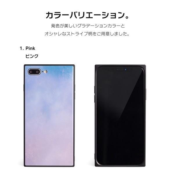 iPhone8 ケース SE2 XR ケース スマホケース XS MAX X iPhone7 iPhoneケース かわいい ガラス dm「スクエアタイル」|designmobile|09