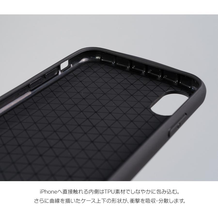 iPhone11 ケース アイフォン11 ケース iPhone8 ケース iPhone11proケース XR ケース 耐衝撃 スマイル リング 付き dm「フラットリング」|designmobile|04