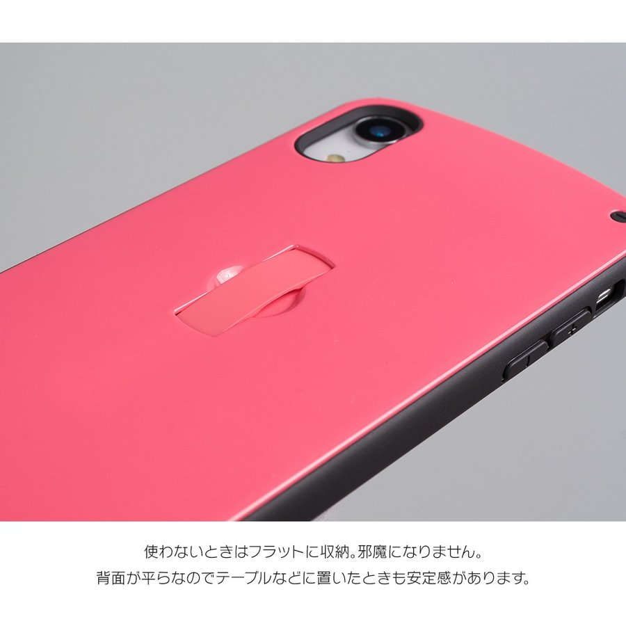 iPhone11 ケース アイフォン11 ケース iPhone8 ケース iPhone11proケース XR ケース 耐衝撃 スマイル リング 付き dm「フラットリング」|designmobile|06