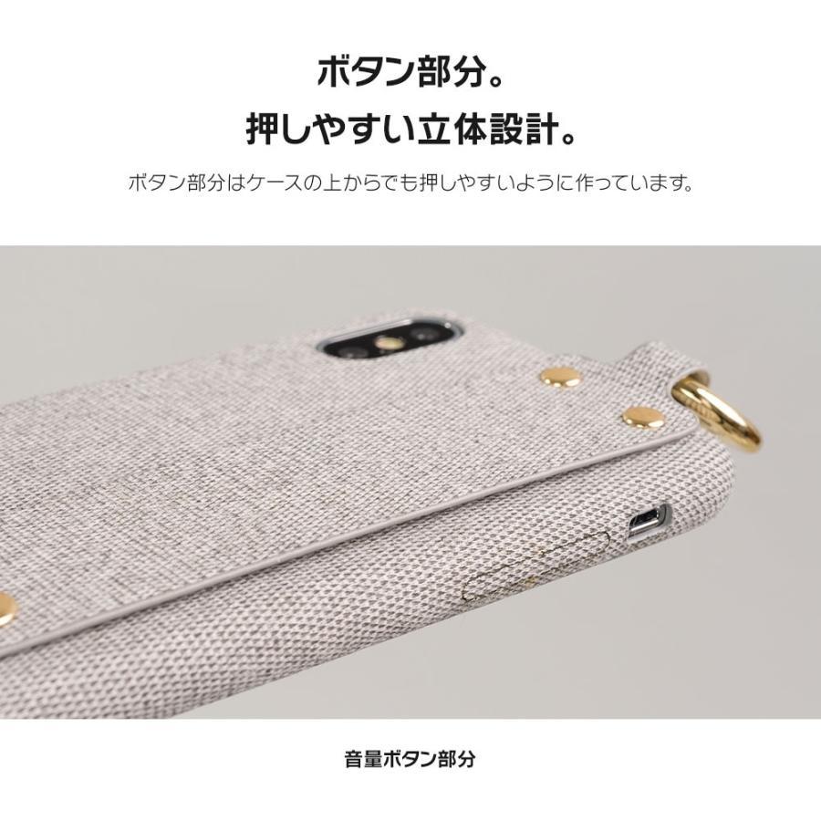 iPhone11 ケース アイフォン11 ケース iPhone8 ケース iPhone11proケース XR ケース ファブリック ベルト リング 落下防止 dm「ファブリックホールド」 designmobile 11
