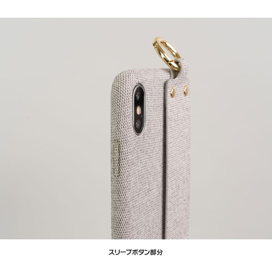 iPhone11 ケース アイフォン11 ケース iPhone8 ケース iPhone11proケース XR ケース ファブリック ベルト リング 落下防止 dm「ファブリックホールド」 designmobile 12