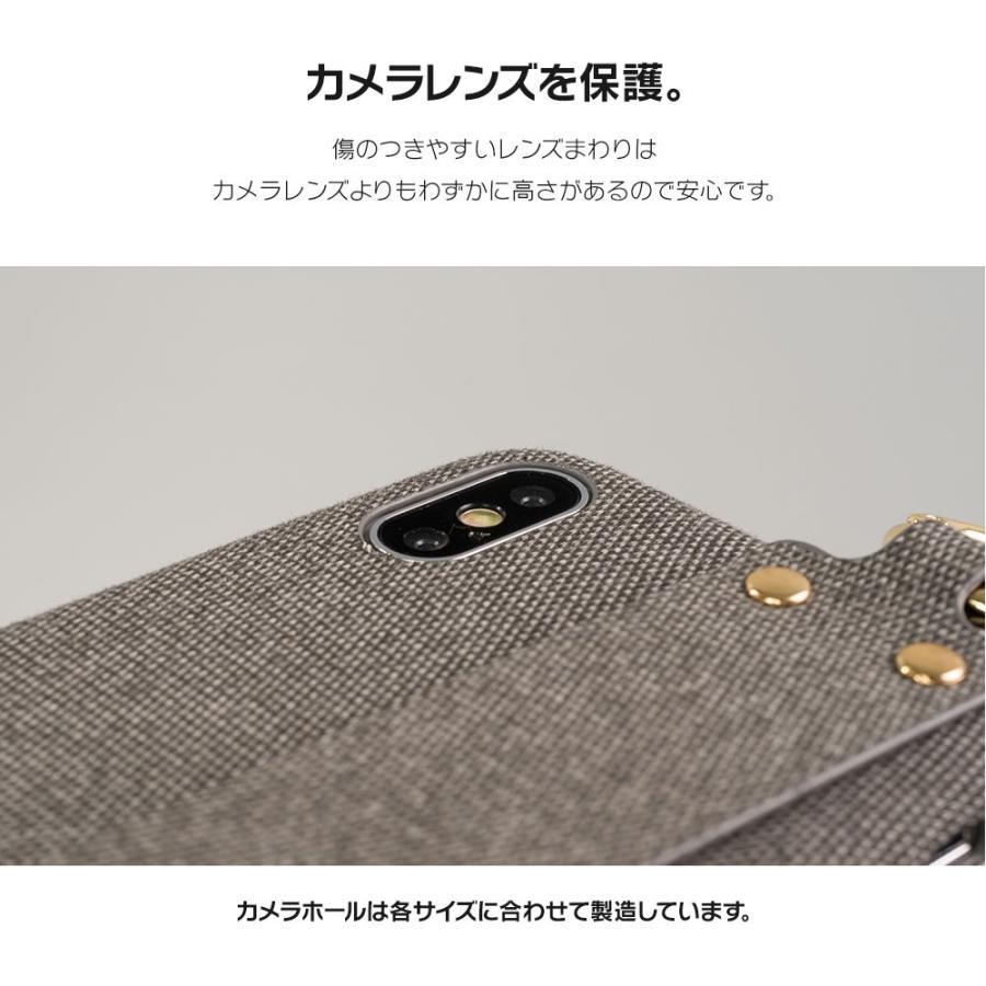 iPhone11 ケース アイフォン11 ケース iPhone8 ケース iPhone11proケース XR ケース ファブリック ベルト リング 落下防止 dm「ファブリックホールド」 designmobile 13