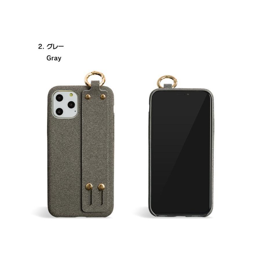 iPhone11 ケース アイフォン11 ケース iPhone8 ケース iPhone11proケース XR ケース ファブリック ベルト リング 落下防止 dm「ファブリックホールド」 designmobile 16