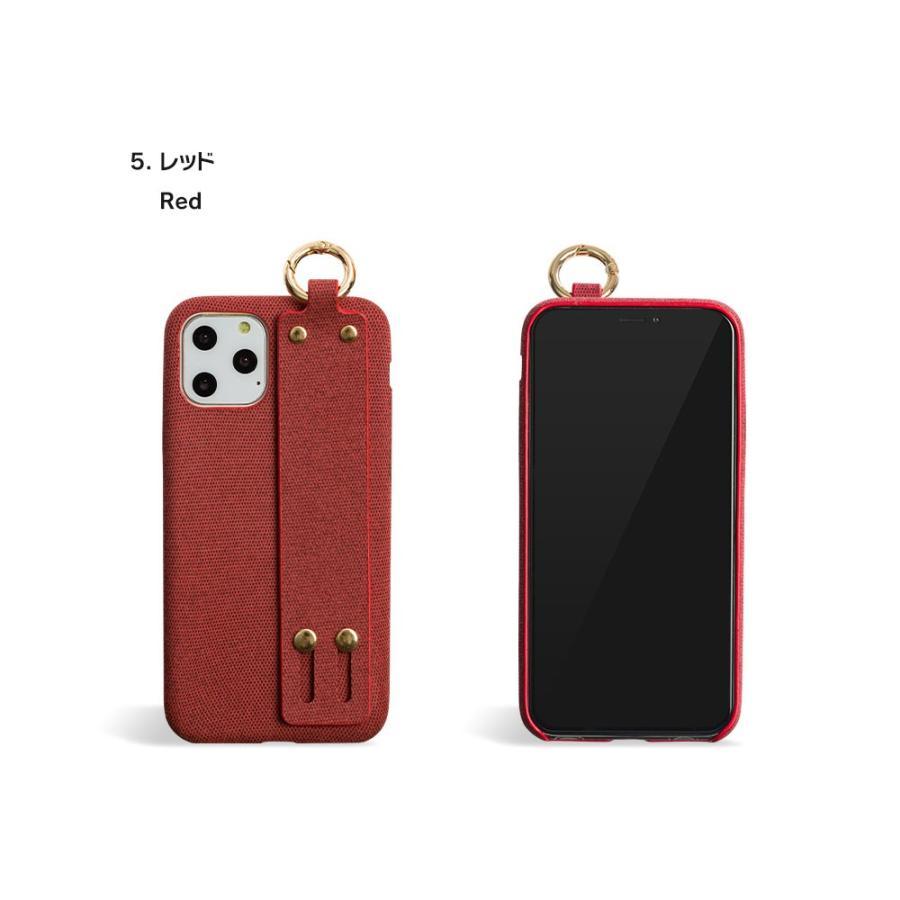 iPhone11 ケース アイフォン11 ケース iPhone8 ケース iPhone11proケース XR ケース ファブリック ベルト リング 落下防止 dm「ファブリックホールド」 designmobile 19