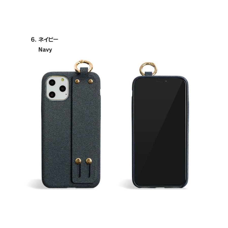 iPhone11 ケース アイフォン11 ケース iPhone8 ケース iPhone11proケース XR ケース ファブリック ベルト リング 落下防止 dm「ファブリックホールド」 designmobile 20