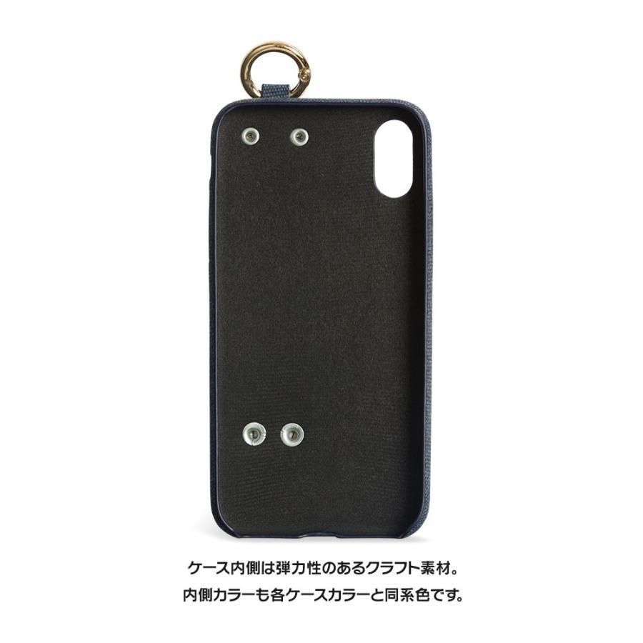 iPhone11 ケース アイフォン11 ケース iPhone8 ケース iPhone11proケース XR ケース ファブリック ベルト リング 落下防止 dm「ファブリックホールド」 designmobile 09