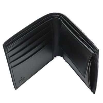 GUCCI グッチ 365467 CWC1R 1000 NERO ブラック GGキャンバス 二つ折り財布 deva-online 06