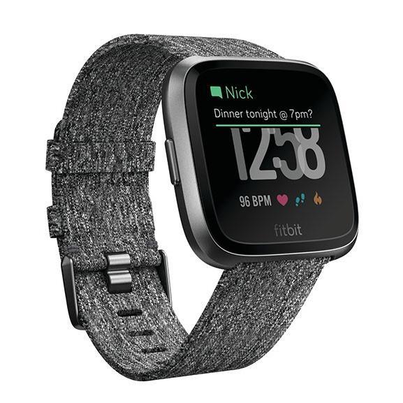 Fitbit VERSA スペシャルエディション FB505BKGY チャコールウーブン グラファイト スマートウォッチ|deva-online