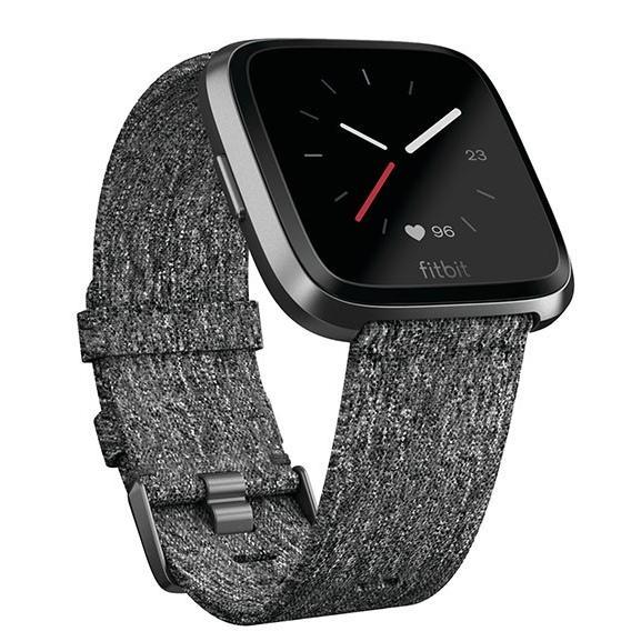 Fitbit VERSA スペシャルエディション FB505BKGY チャコールウーブン グラファイト スマートウォッチ|deva-online|02