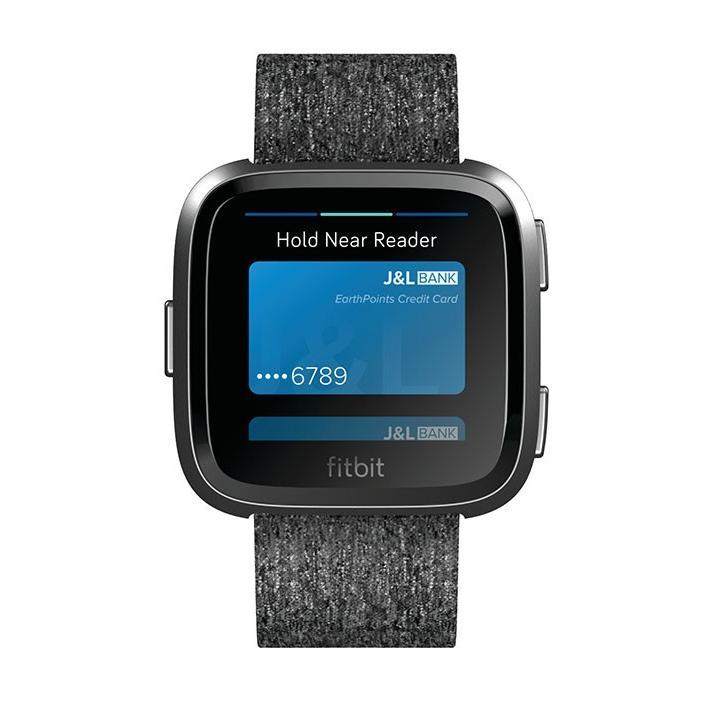 Fitbit VERSA スペシャルエディション FB505BKGY チャコールウーブン グラファイト スマートウォッチ|deva-online|03