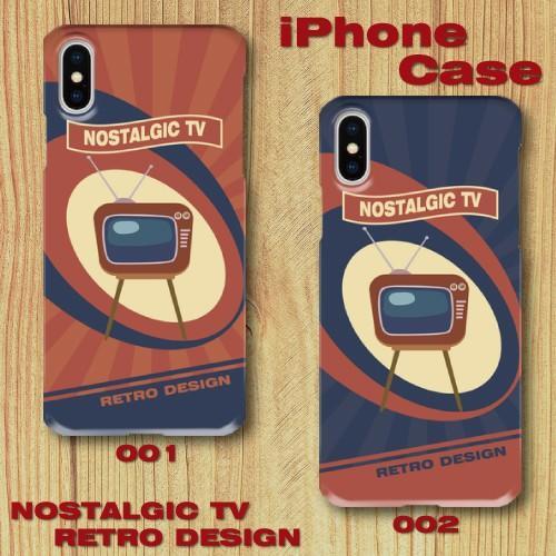 レトロポスター TV アメリカンポップ レトロデザイン ノスタルジック iPhone アイフォン スマホケース ハードケース|dezagoods