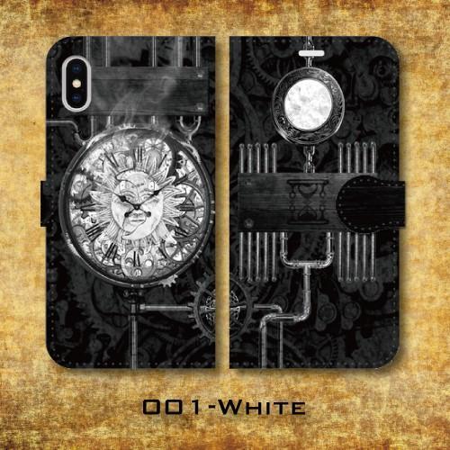 スチームパンク調 タイムマシン 機械 時計 歯車 レトロ iPhone アイフォン スマホケース 手帳型ケース|dezagoods|02