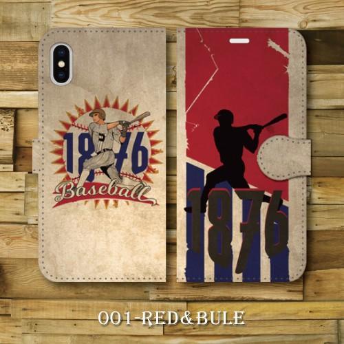レトロポスター ベースボール 野球 レトロ調 ビンテージ調 アメリカ バッター iPhone アイフォン 手帳型ケース|dezagoods|02