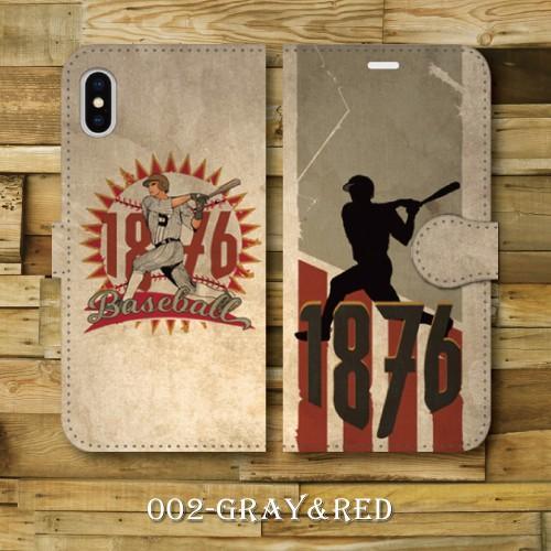 レトロポスター ベースボール 野球 レトロ調 ビンテージ調 アメリカ バッター iPhone アイフォン 手帳型ケース|dezagoods|03