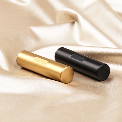 印鑑 チタン印鑑 作成 目印付き 銀行印 実印 作成 女性 男性 印影確認 チタン製 国産 はんこ  祝い 目印付きブラック・ ゴールドチタン 10.5-18mm ケース付き|dhlelephant30531|03