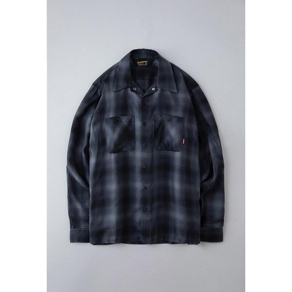 BLUCO ブルコ OMBRE WORK SHIRTS L/S オンブレチェックシャツ OL-109TO-021|dialog-ca|02