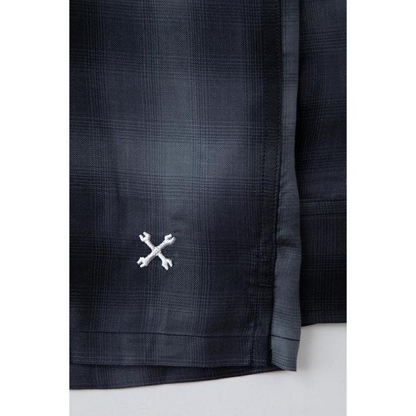 BLUCO ブルコ OMBRE WORK SHIRTS L/S オンブレチェックシャツ OL-109TO-021|dialog-ca|04