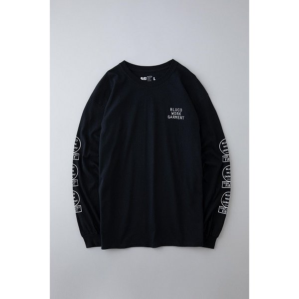 BLUCO ブルコ PRINT L/S TEE' S -bwg- プリント長袖Tシャツ OL-804|dialog-ca|02
