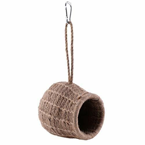 ledmomo ハムスター ハウス ベッド 冬 暖かい 吊り下げ 小鳥巣箱 コットンロープ織り 鳥かご バードケージ バー|diamod-snap987