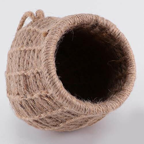 ledmomo ハムスター ハウス ベッド 冬 暖かい 吊り下げ 小鳥巣箱 コットンロープ織り 鳥かご バードケージ バー|diamod-snap987|04
