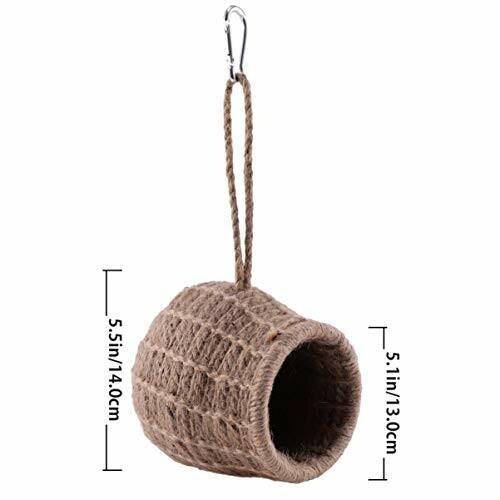 ledmomo ハムスター ハウス ベッド 冬 暖かい 吊り下げ 小鳥巣箱 コットンロープ織り 鳥かご バードケージ バー|diamod-snap987|07