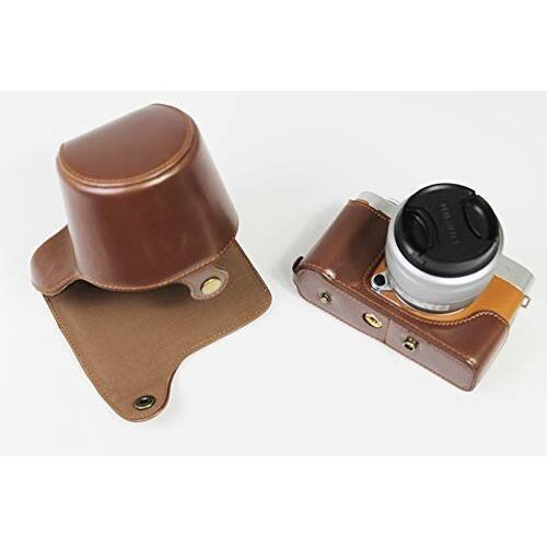 Fujifilm 富士 X-A7 XA7 X-A5 XA5 X-A20 XA20 15-45mm カメラ ケース、koowl 手で作った最高級のpu革の全身カメラ保護殻、Fujif|diamod-snap987|05