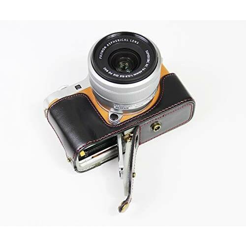 Fujifilm 富士 X-A7 XA7 X-A5 XA5 X-A20 XA20 15-45mm カメラ ケース、koowl 手で作った最高級のpu革の全身カメラ保護殻、Fujif|diamod-snap987|06
