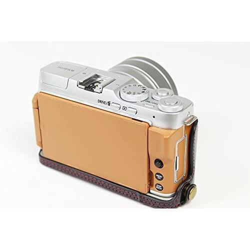 Fujifilm 富士 X-A7 XA7 X-A5 XA5 X-A20 XA20 15-45mm カメラ ケース、koowl 手で作った最高級のpu革の全身カメラ保護殻、Fujif|diamod-snap987|08