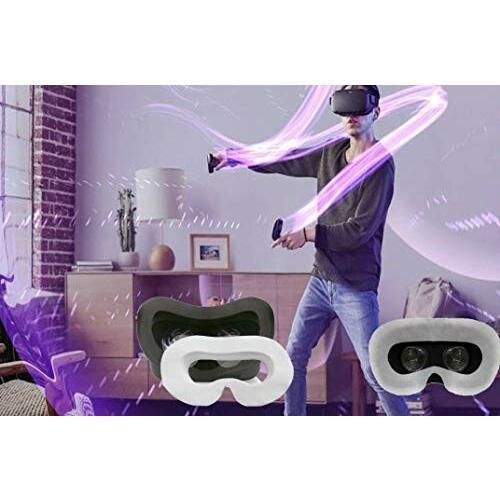 Oculus Quest/Oculus Go VR体験用 フェイスマスク 吸水布 アイマスク VR MASK (50枚 ヘッドマウントディスプレイに装着|diamod-snap987|06