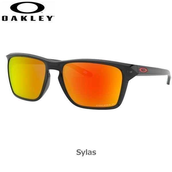 オークリー 偏光 サングラス サイラス カジュアル OAKLEY SYLAS フレーム 黒 Ink レンズ Prizm Ruby Polarized あすつく