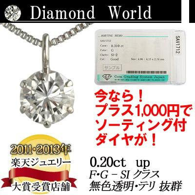ダイヤモンド ネックレス 0.2ct 一粒 ダイヤネックレス プラチナ PT900 ゴールド K18 ピンクゴールド K18PG レディース カラーレス 品質保証書付 送料無料 diaw
