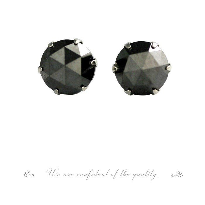 【 5%OFF タイムセール 】デザインが選べる PTローズカットブラックダイヤピアス 1.0ct 品質保証書付  誕生日プレゼント女性 オシャレ|diaw|04