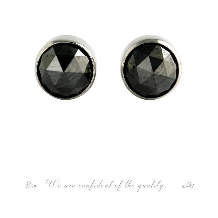 【 5%OFF タイムセール 】デザインが選べる PTローズカットブラックダイヤピアス 1.0ct 品質保証書付  誕生日プレゼント女性 オシャレ|diaw|07