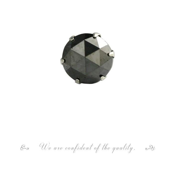 【 5%OFF タイムセール 】デザインが選べる PT900 ローズカット ブラックダイヤ ピアス 0.5ct 片耳ピアス 品質保証書付 誕生日プレゼント女性 オシャレ|diaw|04