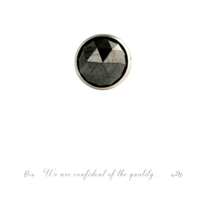 【 5%OFF タイムセール 】デザインが選べる PT900 ローズカット ブラックダイヤ ピアス 0.5ct 片耳ピアス 品質保証書付 誕生日プレゼント女性 オシャレ|diaw|07