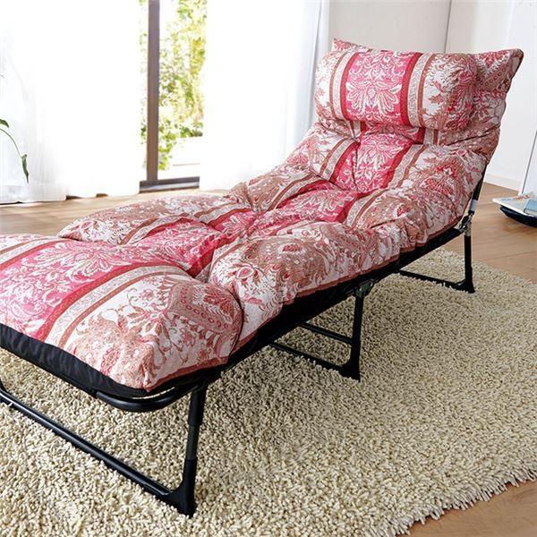 ベッド 枕&ごろ寝布団付き 折りたたみ スチールパイプ ポリエステル 暖かい 冬 冬用