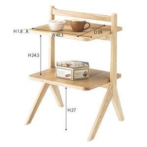 サイドテーブル/ミニテーブル 〔ナチュラル〕 幅45cm 木製 棚板2枚 〔リビング ダイニング ベッドルーム 寝室〕|dicedice|02