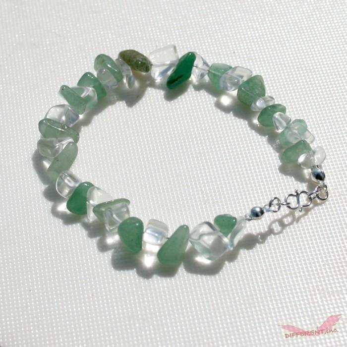 アベンチュリン 水晶 天然石ブレスレット Silver925 一点物|different|03