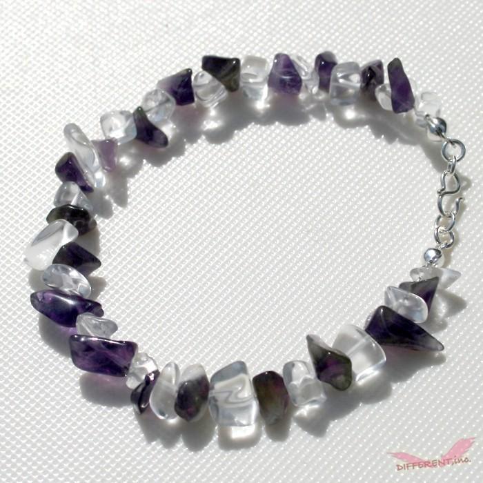 アメジスト 水晶 天然石ブレスレット Silver925 一点物 different 04