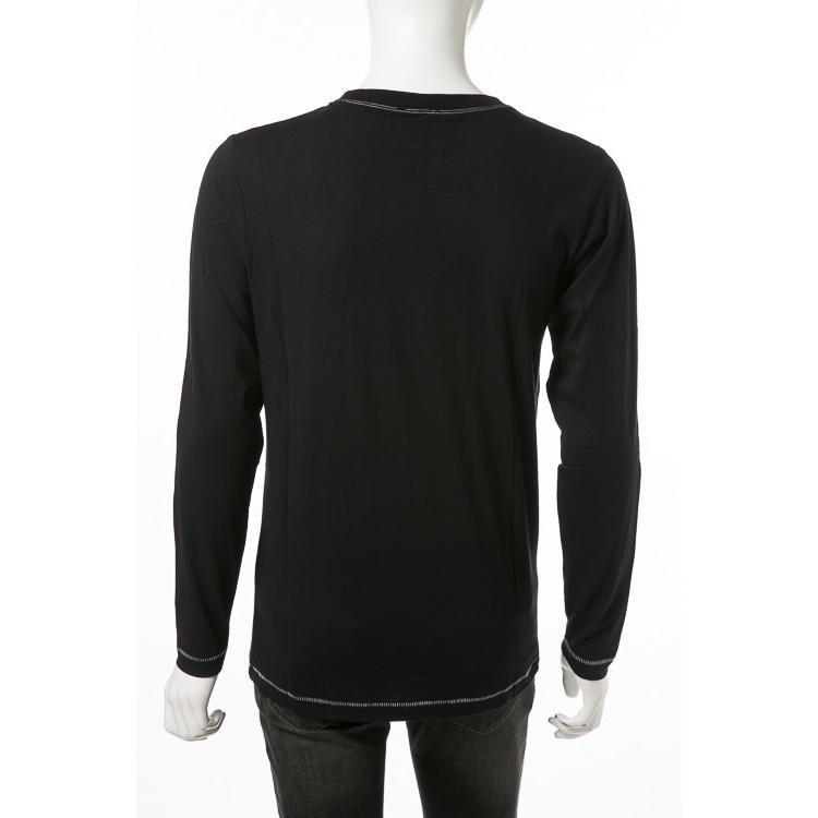 ディーゼル DIESEL ロングTシャツ ロンT 長袖 丸首 クルーネック UMLT-JUSTIN T-shirt L/S メンズ 00CP7C RTARI ブラック|diffusion|02