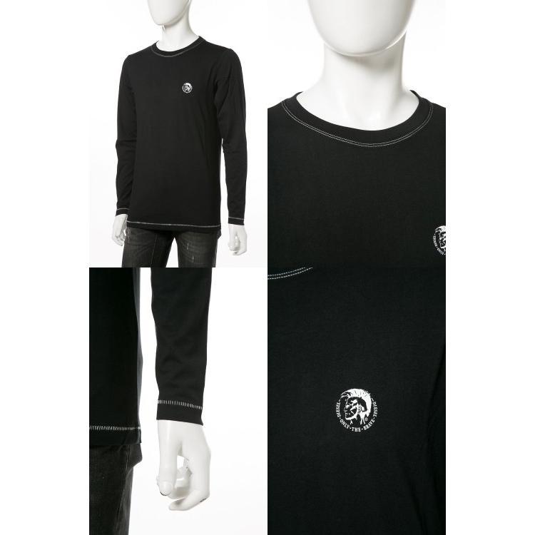 ディーゼル DIESEL ロングTシャツ ロンT 長袖 丸首 クルーネック UMLT-JUSTIN T-shirt L/S メンズ 00CP7C RTARI ブラック|diffusion|03