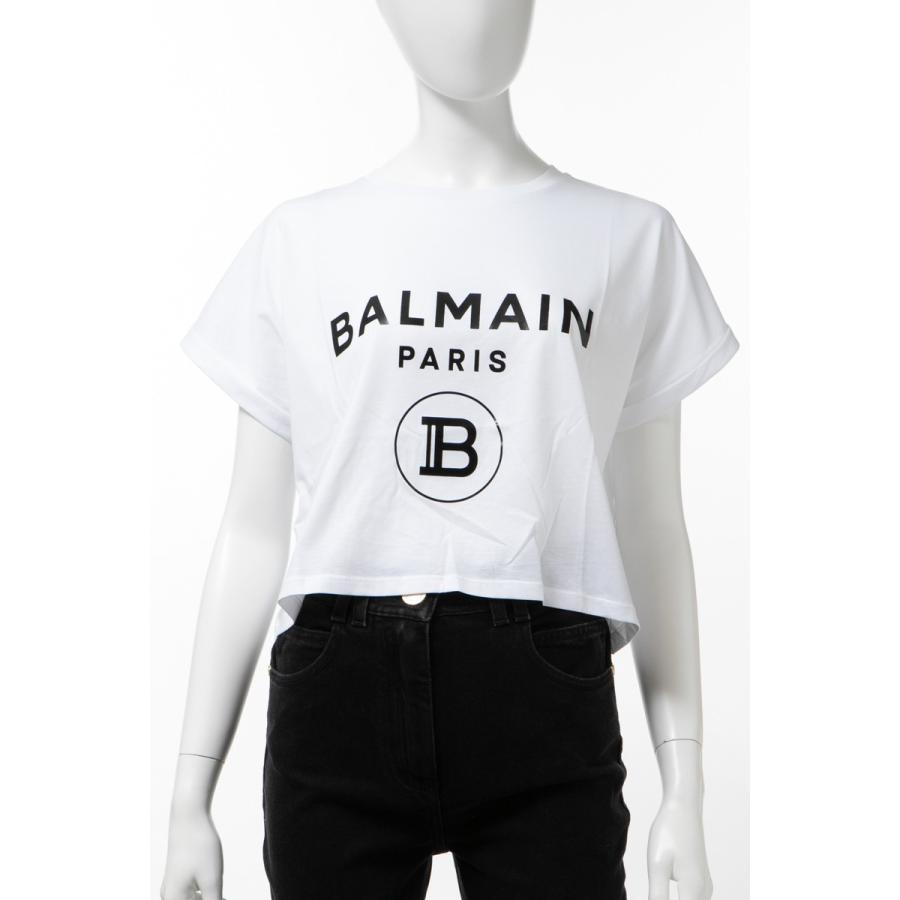 バーゲンで バルマン BALMAIN Tシャツ 半袖 丸首 クルーネック レディース TF11357 I381 ホワイト 2020年春夏新作, 上野バイク用品専門店 カムカム 6e5b5c59