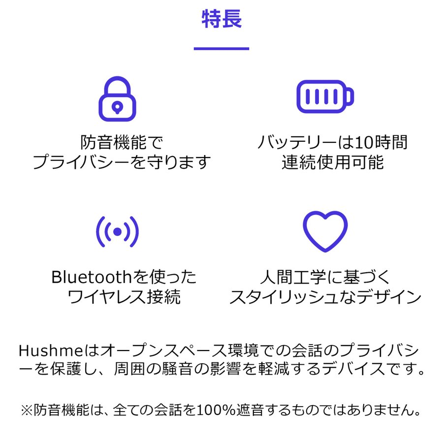 Hushme ハッシュミー 会話のプライバシーを保護し騒音の影響を軽減するパーソナルアコースティックデバイス 交換用アコースティックチャンバーのセット! digi-coordi 06
