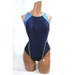 ツートンカラー競泳水着(ブルー)4Lサイズ
