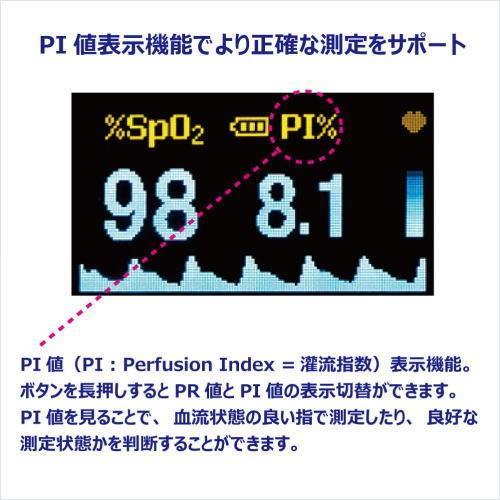 【医療機器認証取得済品】Ciメディカル パルスオキシメーター パルスフロー (ミントグリーン) digital7 04