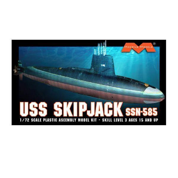 1/72 アメリカ海軍 原子力潜水艦 USS スキップジャック プラモデル メビウスモデル MOE1400(C4164)