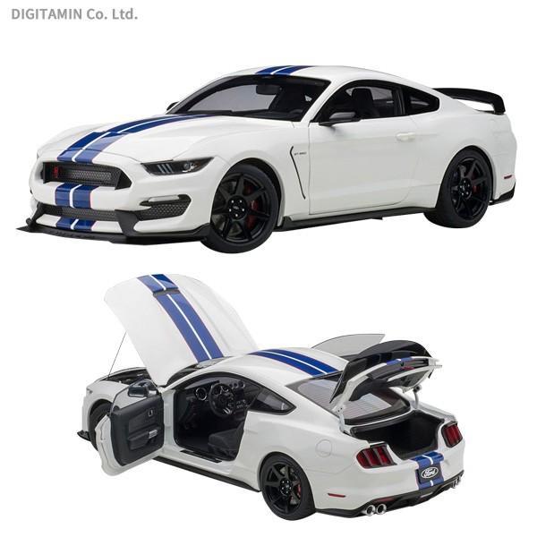 送料無料◆オートアート 1/18 フォード シェルビー GT350R (ホワイト/ブルー・ストライプ) ミニカー 72931 (ZM64592)