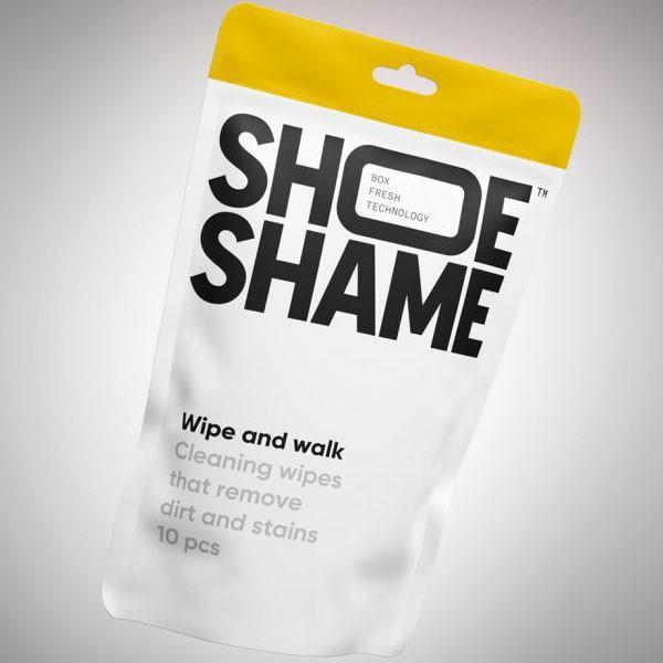 スニーカークリーナー シューシェイム ワイプ&ウォーク クリーニングワイプ シューケア用品 シュークリーナー 靴磨き 10枚入 SHOE SHAME Wipe and walk digstore